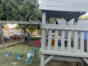 Huge wooden swing set $500 firm cash only for Sale in Fresno, CA