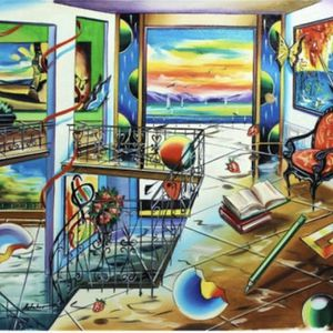 "Ashtahov Original Oil Painting "" Romantic View"" for Sale in Evansville, IN"