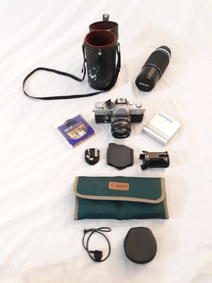 Vintage Camera & Accessories Lot Nikon Petri Cokin Canon for Sale in Reed, KY