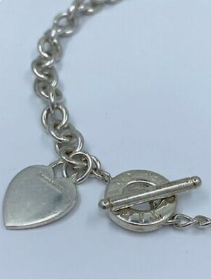Tiffany & Co. Sterling Silver Heart Charm Necklace for Sale in Lawndale, CA