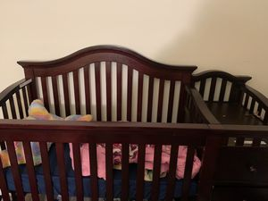 Crib with changing table and dressers (toddler bed attachment included) for Sale in Nottingham, MD