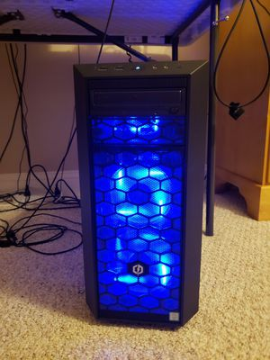 Custom Gaming Computer + LED Keyboard and Mouse (Used - like new) for Sale in La Plata, MD