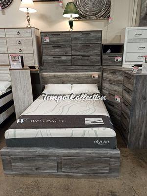 Queen Storage Bed Frame, Grey, SKU# ASHB221-QTC for Sale in Norwalk, CA