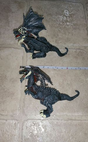 Fantasy Mythical Black Horned Dragons Figure Toys (6 points of articulations) for Sale in Lynnwood, WA