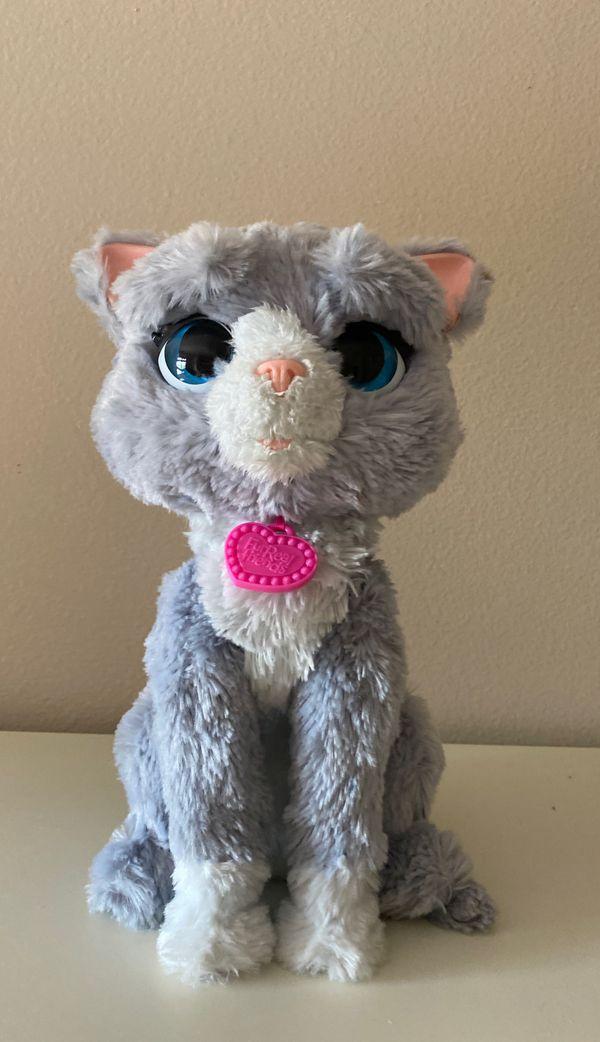 FurReal Friend purple cat moves talks