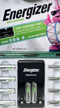 Energizer Recharge 10 Battery Rechargeable Battery Kit with Charger for Sale in Torrance,  CA