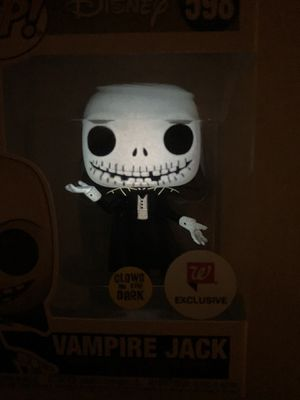 GLOW Vampire Jack Skellington Funko Pop Walgreens Exclusive GITD Nightmare Before Christmas 598 Funkoween with protector for Sale in Flower Mound, TX