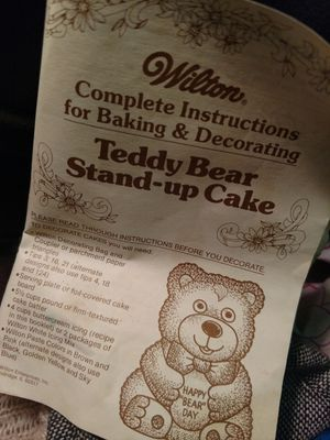 Wilton Stand Up Bear Cake Pans NIP for Sale in Tacoma, WA