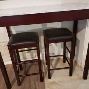 "Tall Table With Stool H:36"" Length 42"" Marble Top for Sale in San Diego, CA"