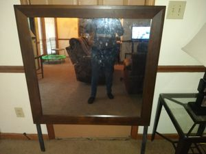 Queen size bed frame mirror and dresser for Sale in Fayetteville, NC