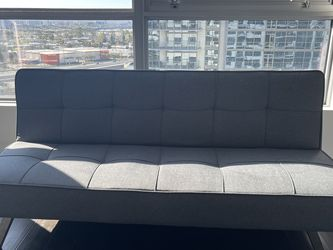 Couch Futons, 2 Sets Of 2, Leather And Linen. $125 Per Couch for Sale in Newport Beach,  CA