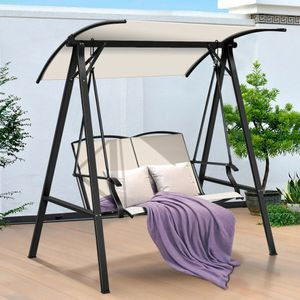 Outdoor Porch Steel swing with Canopy for Sale in Bellaire, OH