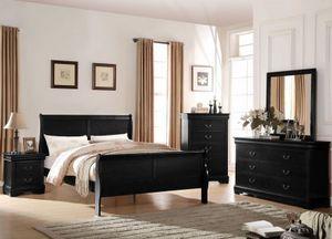 """Bedroom set Queen bed +Nightstand +Dresser +Mirror """"Mattress &Chest not included """" for Sale in Stanton, CA"""