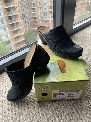 NAOT Dream 90229 Leather Casual Shoes - In Original box (box has writing on it.) Style: Mules Slide Slip On Color: Black Lace Leather Size: 38 app for Sale in Arlington, VA