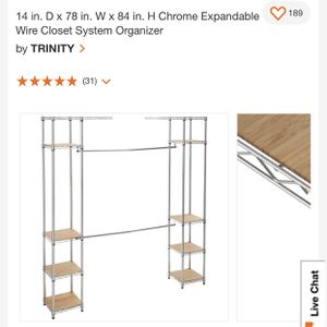 Expandable Metal Closet Organizer for Sale in Norwalk, CA