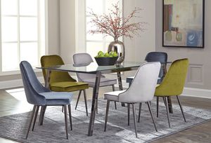 FREE DELIVERY - New Inslee Scott Living Glass Table Chair Dining Set for Sale in Miami, FL