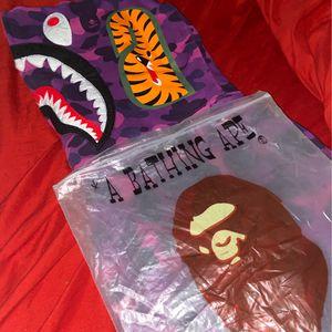 purple full zip bape hoodie for Sale in Redford Charter Township, MI
