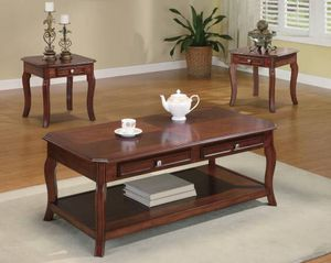 Wood in Bourbon Finish 3 Piece Table Set $299- SALE! for Sale in Sacramento, CA
