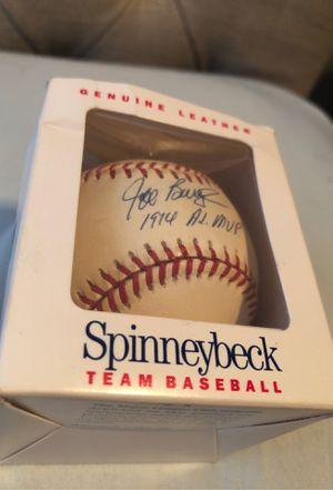 Jeff boroughs 1914 mvp signed baseball for Sale in Houston, TX
