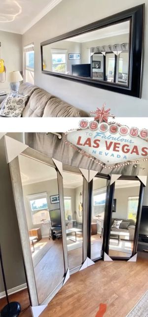 We deliver Mirrors! (brand new) Hangable/leanable. 2 colors: Rustic Silver / Walnut Bronze for Sale in North Las Vegas, NV