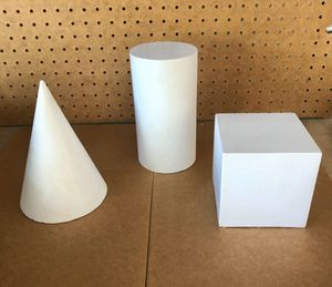 3 shapes of art studio plaster cast for Sale in Rancho Cucamonga, CA
