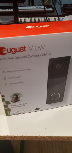 August Wire-Free Doorbell Camera + Chime for Sale in Marvin, NC