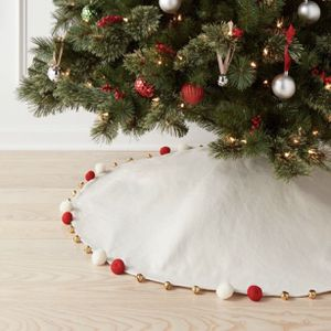50in Christmas Pom & Bell Tree Skirt White - Opalhouse for Sale in El Monte, CA