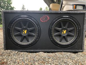Dual 12 inch kicker subwoofers for Sale in Ashaway, RI