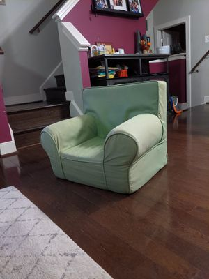 Pottery Barn green kids chair w/o embroidery for Sale in Washington, DC