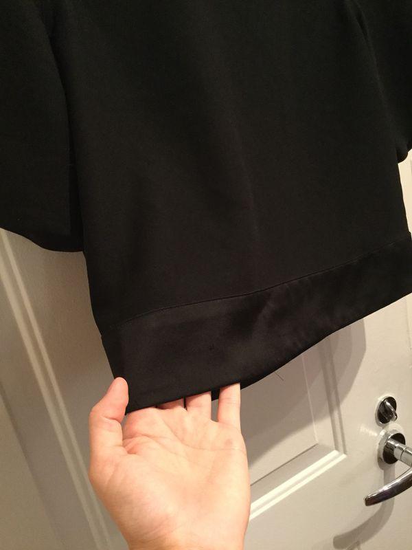 Black Banana Republic Top Shirt Blouse with Silk