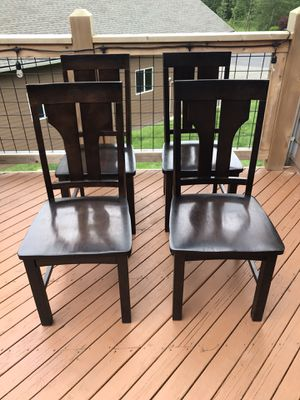 4 solid wood dining chairs for Sale in Auburn, WA
