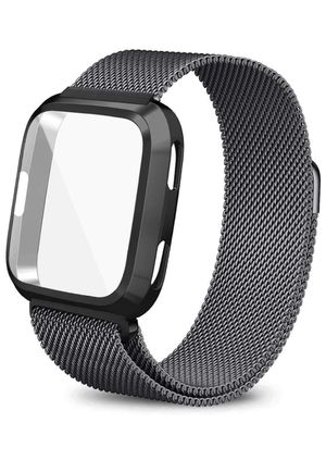 Versa lite compatible smart watch band- space grey Large for Sale in Sunnyvale, CA