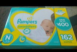 Pampers Swaddlers Newborn 162 Count for Sale in Jacksonville, FL