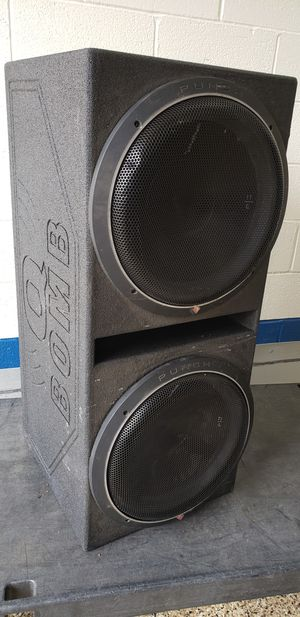 """Q BOMB with 15"""" Rockford Fosgate Punch P