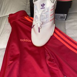 Coral Adidas Spring 2021 Track jacket & Adidas Boost for Sale in Galloway,  OH