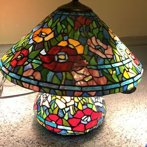 Tiffany Style Tivoli Accent Lamp Stained Glass Lamp for Sale in University Park, IL