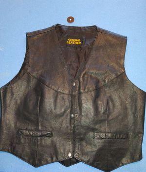 Genuine Leather motorcycle vest for Sale in Nashville, TN
