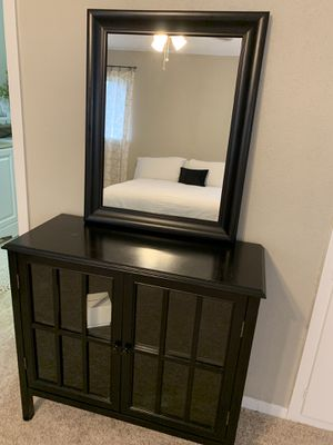 Shelf, hutch, side table, end table, entry table, cabinet with mirror for Sale in Dallas, TX