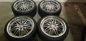 4 19 in 5x120 zenetti wheels rims tires for Sale in Rockville, MD