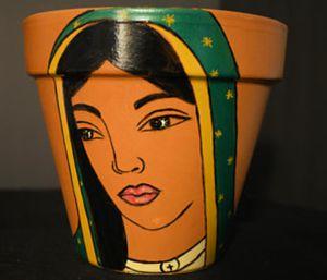 Virgen de Guadalupe terracotta pot for Sale in Phoenix, AZ