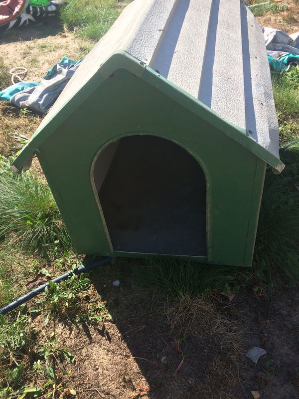 Small aluminum dog house