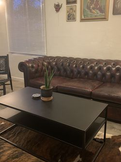 Vintage Chesterfield Leather Couch for Sale in Santa Cruz,  CA