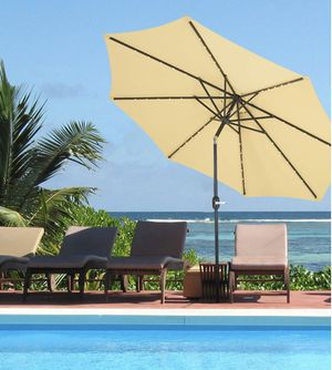 Modern outdoor umbrella(led)-outdoor living space,outdoor pool,outdoor dining for Sale in Orlando, FL