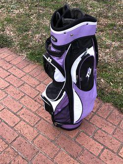 """Ladies Tiger Shark Cart Bag. Very Nice Plenty Of Storage . """"8"""" Club Slots for Sale in Greer,  SC"""