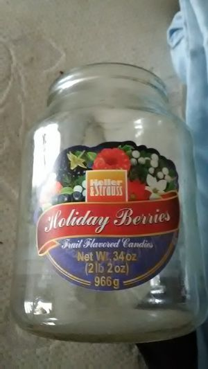 HOLIDAY BERRIES MASON JAR for Sale in Langhorne, PA