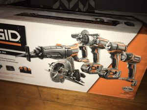 RIDGID 18v 5pc Combo Kit for Sale in Chicago, IL