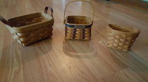 Set of 3 longaberger baskets for Sale in Nashville, TN
