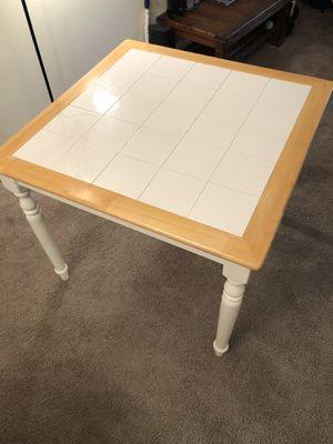 Square White Tiled Kitchen Table for Sale in Charlottesville, VA