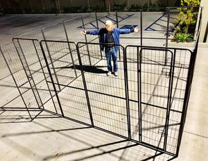 New in box 72 inch or 6 feet tall x 32 inches wide each panel x 16 panels exercise playpen fence safety gate dog cage crate kennel for Sale in Santa Fe Springs, CA
