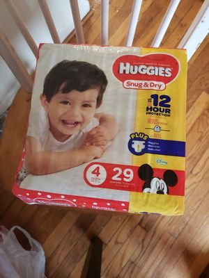 3 PACKAGES DIAPERS HUGGIES SNUG & DRY SIZE 4 for Sale in Takoma Park, MD